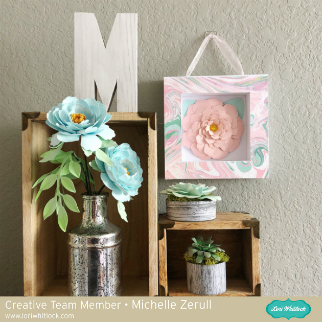 Paper Flower Shadow Box Tutorial with Michelle