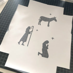 Silk Screened Nativity Banner Tutorial with Kathy