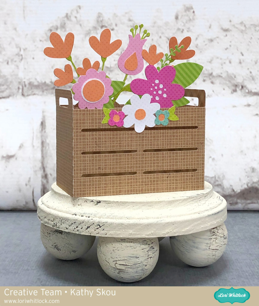 File Check Out Card flowers – lori whitlock